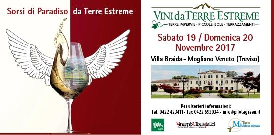 Vini da Terre Estreme – Villa Braida Mogliano Veneto – 19/20 novembre 2017